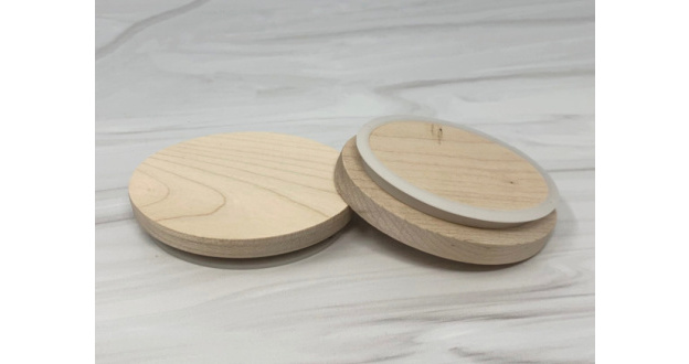 Maple Wood Lids - 6 oz. Oval Jars